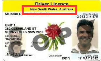 新南威尔士驾照